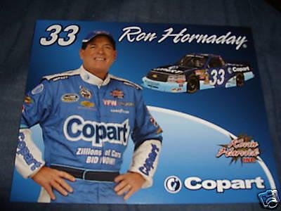 2009 Ron Hornaday  33 Copart Nascar Postcard