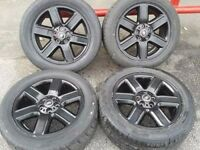 "GENUINE RANGE ROVER 19"" ALLOYS & 255/50/19 WINTER TYRES/ 5X120PCD VW T5 TRANSPORTER"