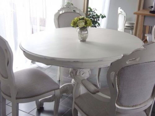 Vintage French Louis Style Dark Wood Dining Table Chairs In Barry Va