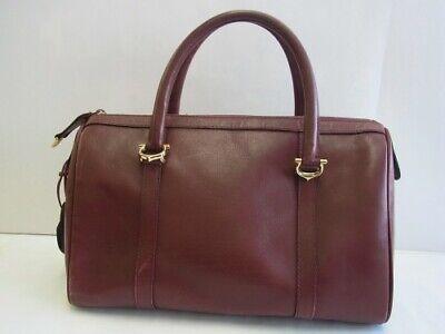 Auth MS13 Cartier must line mast line mini Boston bag handbag