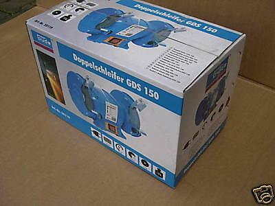 250 W Doppelschleifer Schleifgerät Schleifbock 150x20 mm Doppelschleifbock