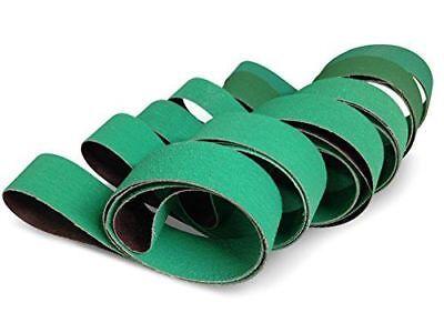 2 X 42 Inch Knife Sharpening Sanding Belts - Premium Ceramic - Coarse Grits - 6