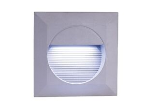 Recessed White LED Square Wall Light