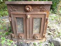 Ornate Cast Iron Stove Wood Burner Needs some tlc! Garden feature?!