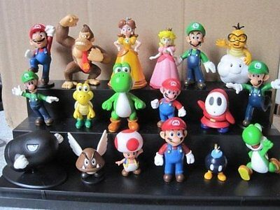 18x Menge Super Mario Bros Brothers Yoshi Action Figuren Spielset Kind Spielzeug