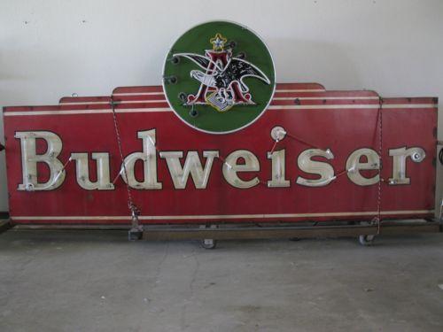 Vintage Budweiser Beer Neon Sign Ebay