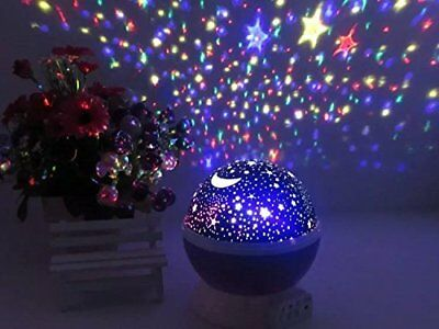 Constellation Night Light Baby Kids Desk Lamp Star Sky Projector Rotating Cosmos