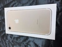 APPLE-IPHONE-7-GOLD-32gb-THREE-NETWORK-BRAND-NEW - boxed