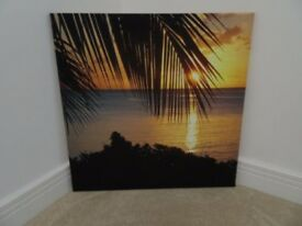 Photographic Canvas: Mauritius Sunset Great Condition