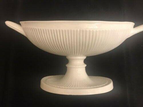 """LARGE ANTIQUE Fruit Compote centerpiece, ITALIAN porcelain, 15 1/4"""" LONG!"""