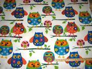 Owl Fleece Fabric