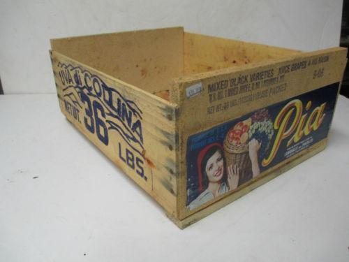 Old wooden crates antiques ebay for Where to find old wooden crates