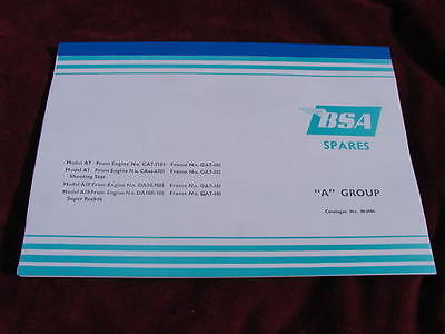 looseleaf SPARE PARTS BOOK BSA A7 A10 1958 on vital reference manual 00-5086 new