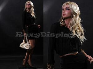 Female Fiberglass Mannequin Beautiful Face with elegant pose Style #MZ-LISA4