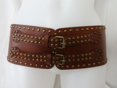Wide Brown Leather Belt Ebay
