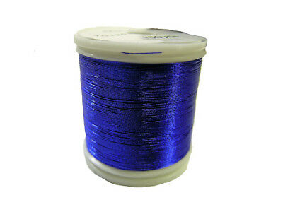 OLDE FLY SHOP ROD BUILDING METALLIC THREAD 100YDS SIZE A   BLUE #YC125