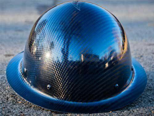 carbon fiber hard hat full brim Blue/Black ANSI/ISEA Certified