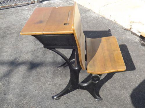 Antique Childs School Desk Ebay