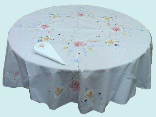 60 Quot Round White Tablecloth Ebay