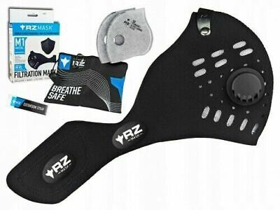 RZ Mask M1 Mask Large 125-215 Lbs. Black Mask with 2 Filters & Storage Bag