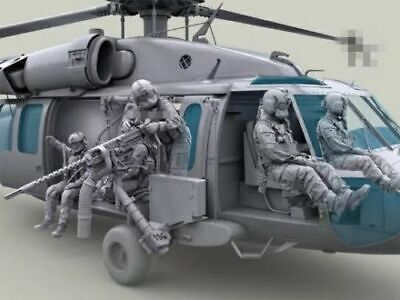 1:35 Scale US HH-60G Pave Hawk Helicopter crew set 7 figures resin model Hh 60g Helicopter