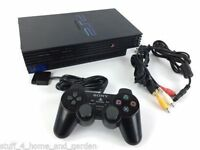 ps2 console with controller and all cables