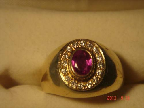 Antique Ruby Mens Rings