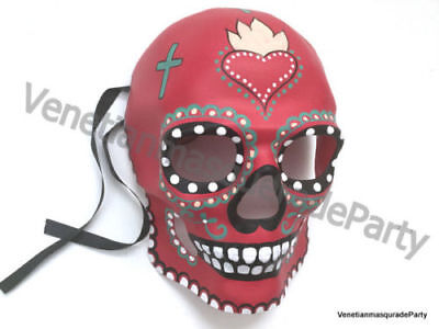 Halloween Skeleton Mask Day of the Dead Resin Costume Party Mens Full Face - Day Of The Dead Mens Halloween Costume