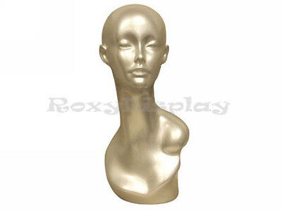 Female Mannequin Egg Head Bust Wig Hat Jewelry Display Md-tinas