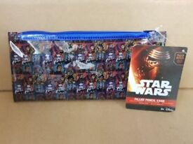 car boot job lot bulk buy Brand New Star Wars filled Pencil Cases RRP £4.99 each my price £2 each