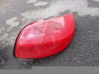 Peugeot 206 98-02 Rear Light BACK TAIL Lamp O/S DRIVERS SIDE LENS CLUSTER