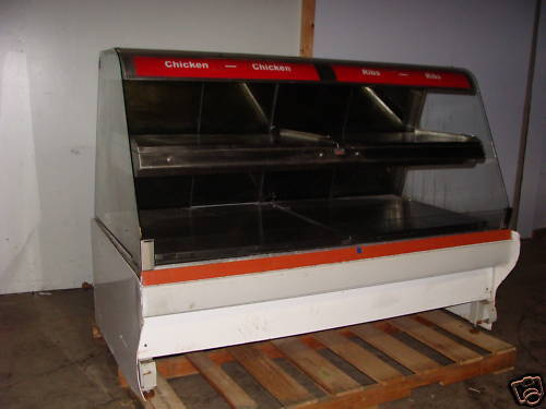 """HARDT 73"""" DOUBLE STACK HEATED LIGHTD DISPLAY CASE"""