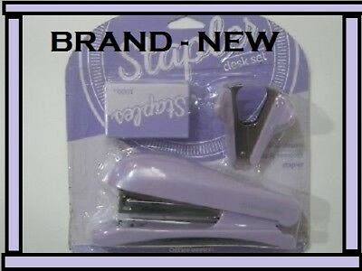 Office Depot Stapler Desk Set Item 556-187 Purple Free Shipping