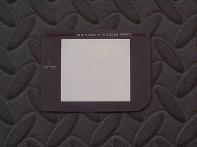 (Gray Plastic Protector Outer Screen Lens for Nintendo GameBoy Classic Fat DMG-01)
