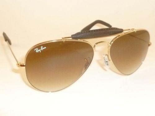 fc75a78eb Ray Ban Aviator Leather | eBay