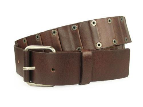 genuine leather studded belt ebay