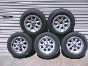 Superlite alloy wheels 4x114.3 / 14x6 with good Bridgestone tyres Orchard Hills Penrith Area Preview