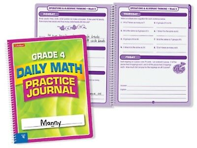 (Set of 10 LAKESHORE Daily Math Practice Journal Grade 4 EE974 )