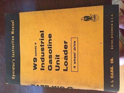 Case W9 Wheel Loader Tractor Operators Manual