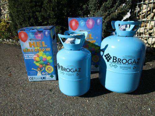Helium Ballongas 2 er set Einweg für ca.80 Luftballons d:20cm Folienballons
