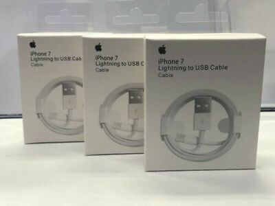 3-Pack Apple Lightning Cable to USB Charger for iPhone 5 6 7 8 X XR XS & XS Max