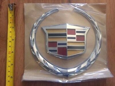 Cadillac Escalade STS DTS XLR ATX XTS Grill or trunk wreath Emblem New