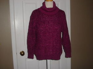 Vintage Women Cable knit sweater by holiday knitwear LTD size M