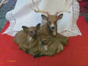 Vintage Reindeer Figurines Home Interior Homco Bisque Porcelain ...