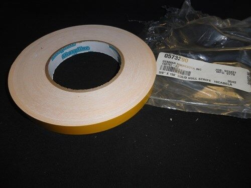 """YELLOW 10CABELA SOLID HULL PINSTRIPE DECAL TAPE 5/8"""" X 150' FT 140767-02 BOAT"""
