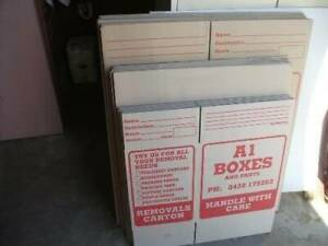 PACKING / MOVING BOXES 20 NEW $65.50 LESS $25 REFUND IF RETURNED