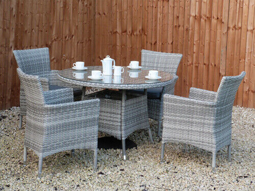 Garden Furniture - RATTAN GARDEN FURNITURE SET SOFA CHAIRS TABLE CONSERVATORY OUTDOOR PATIO