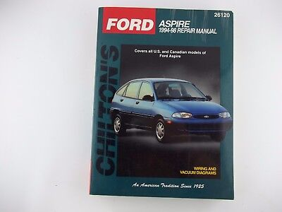 CHILTON BOOKS 26120 Repair Manual 1994-1998 FORD ASPIRE