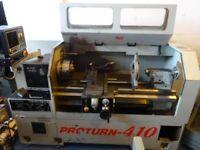 XYZ PROTURN 410 SEMI CNC TEACH LATHE