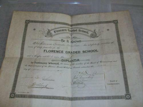 Vintage Marriage Certificate Washoe County Nevada: Antique Diploma